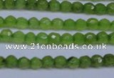 CCN2817 15.5 inches 3mm tiny faceted round candy jade beads