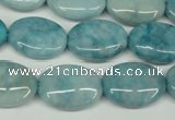 CCN2951 15.5 inches 15*20mm oval candy jade beads wholesale