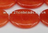 CCN3986 15.5 inches 30*40mm oval candy jade beads wholesale