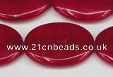 CCN3988 15.5 inches 30*40mm oval candy jade beads wholesale