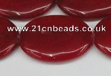 CCN3989 15.5 inches 30*40mm oval candy jade beads wholesale