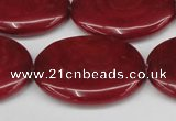 CCN3990 15.5 inches 30*40mm oval candy jade beads wholesale