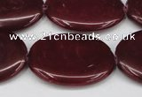 CCN3991 15.5 inches 30*40mm oval candy jade beads wholesale