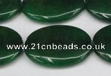 CCN3997 15.5 inches 30*40mm oval candy jade beads wholesale