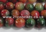 CCN4002 15 inches 8mm faceted round candy jade beads wholesale