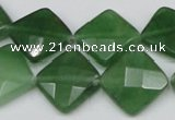 CCN404 15.5 inches 15*15mm faceted diamond candy jade beads