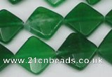 CCN405 15.5 inches 15*15mm faceted diamond candy jade beads