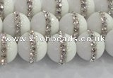 CCN4601 15.5 inches 8mm round candy jade with rhinestone beads