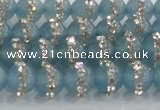 CCN4615 15.5 inches 6mm round candy jade with rhinestone beads