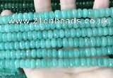 CCN5152 15 inches 5*8mm faceted rondelle candy jade beads