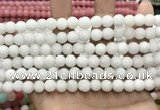 CCN5573 15 inches 8mm round matte candy jade beads Wholesale