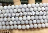 CCN5577 15 inches 8mm round matte candy jade beads Wholesale