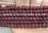 CCN5597 15 inches 8mm round matte candy jade beads Wholesale