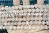 CCN5677 15 inches 8mm faceted round candy jade beads