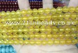 CCN5706 15 inches 8mm faceted round candy jade beads