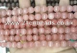 CCN5715 15 inches 8mm faceted round candy jade beads