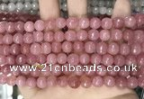 CCN5717 15 inches 8mm faceted round candy jade beads