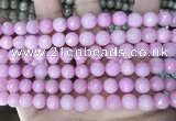 CCN5720 15 inches 8mm faceted round candy jade beads