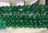 CCN5790 15 inches 10mm faceted round candy jade beads