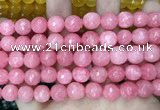 CCN5802 15 inches 10mm faceted round candy jade beads