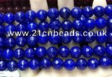 CCN5817 15 inches 10mm faceted round candy jade beads