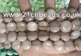 CCN5864 15 inches 15mm flat round candy jade beads Wholesale