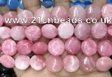 CCN5879 15 inches 15mm flat round candy jade beads Wholesale