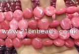 CCN5881 15 inches 15mm flat round candy jade beads Wholesale