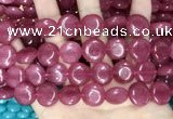 CCN5883 15 inches 15mm flat round candy jade beads Wholesale