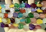 CCN5942 15 inches 12*12mm heart candy jade beads Wholesale