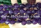 CCN5949 15 inches 14*14mm heart candy jade beads Wholesale