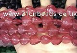 CCN5951 15 inches 14*14mm heart candy jade beads Wholesale