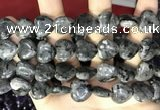 CCN5963 15 inches 14*14mm heart black labradorite beads Wholesale