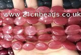 CCN5969 15 inches 13*18mm faceted oval candy jade beads