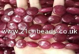 CCN5970 15 inches 13*18mm faceted oval candy jade beads