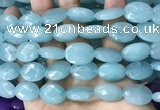 CCN5971 15 inches 13*18mm faceted oval candy jade beads