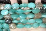 CCN5975 15 inches 13*18mm faceted oval candy jade beads