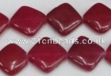 CCN598 15.5 inches 15*15mm diamond candy jade beads wholesale