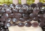 CCN5980 15 inches 13*18mm faceted oval candy jade beads