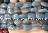 CCN5981 15 inches 13*18mm faceted oval candy jade beads