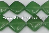 CCN599 15.5 inches 15*15mm diamond candy jade beads wholesale
