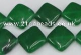 CCN600 15.5 inches 15*15mm diamond candy jade beads wholesale