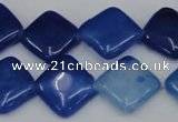 CCN601 15.5 inches 15*15mm diamond candy jade beads wholesale