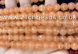 CCN6308 15.5 inches 8mm faceted round candy jade beads Wholesale