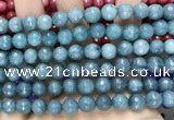 CCN6320 15.5 inches 8mm faceted round candy jade beads Wholesale