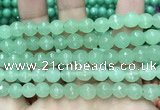 CCN6330 15.5 inches 8mm faceted round candy jade beads Wholesale
