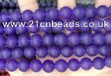 CCN6363 15.5 inches 6mm, 8mm, 10mm & 12mm round matte candy jade beads