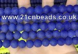 CCN6368 15.5 inches 6mm, 8mm, 10mm & 12mm round matte candy jade beads