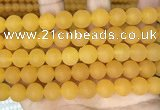 CCN6370 15.5 inches 6mm, 8mm, 10mm & 12mm round matte candy jade beads