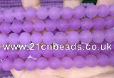 CCN6373 15.5 inches 6mm, 8mm, 10mm & 12mm round matte candy jade beads